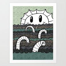 Sea Monster v2 Art Print