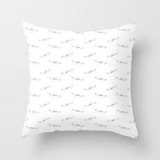 Flying Fuck - Black on White Throw Pillow