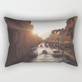 BOAT - STREETS - RIVER - TOWN - LIFE - CULTURE - PHOTOGRAPHY Rectangular Pillow