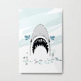 Crying Shark Metal Print