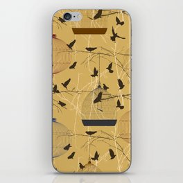 Seamless birdcage composition iPhone Skin