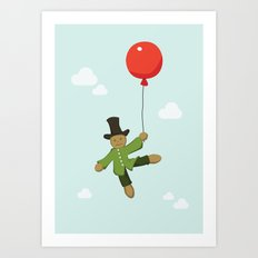 Scarecrow in balloon  Art Print