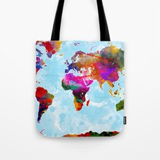 World Map - 3 Tote Bag