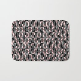 Triangle Sympony Grey Blush and Coral Geometric Bath Mat
