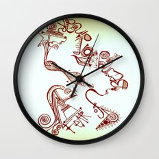 fear of being ordinary Wall Clock