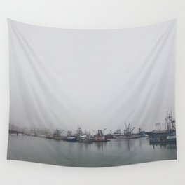 Moored in the Mist Wall Tapestry