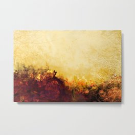 LOVELY FLOWERS ARE KISSING A YELLOW FIELD Metal Print