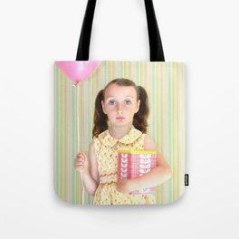 Girl with Balloon Tote Bag