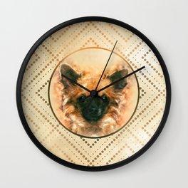 Watercolor art Chihuahua Painting Wall Clock