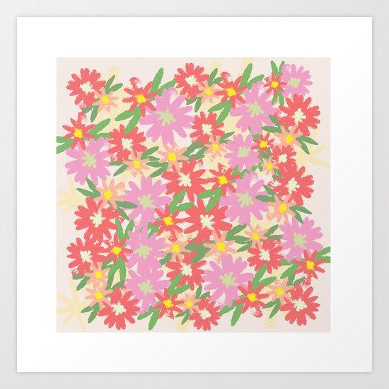 floral party Art Print