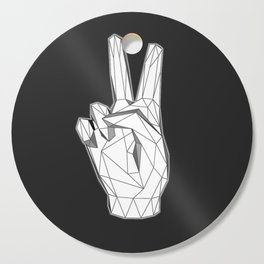 Geometric Peace sign Cutting Board