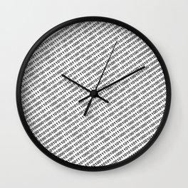 Binary Code - diagonal version Wall Clock