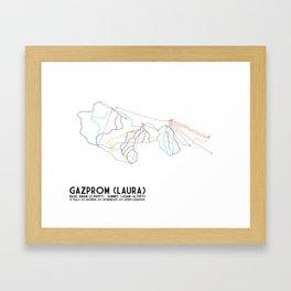 Gazprom (Laura) Mountain Resort, Sochi, Russia - North American Edition - Minimalist Trail Art Framed Art Print
