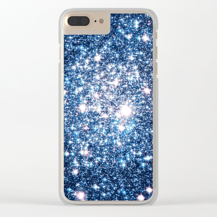 Galaxy Stars: Riverside Blue Clear iPhone Case