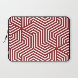 Auburn - red - Minimal Vector Seamless Pattern Laptop Sleeve