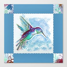 Blue Jewel Box Hummingbird Canvas Print