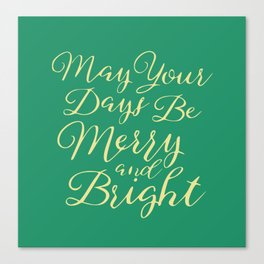 Merry wishes Canvas Print