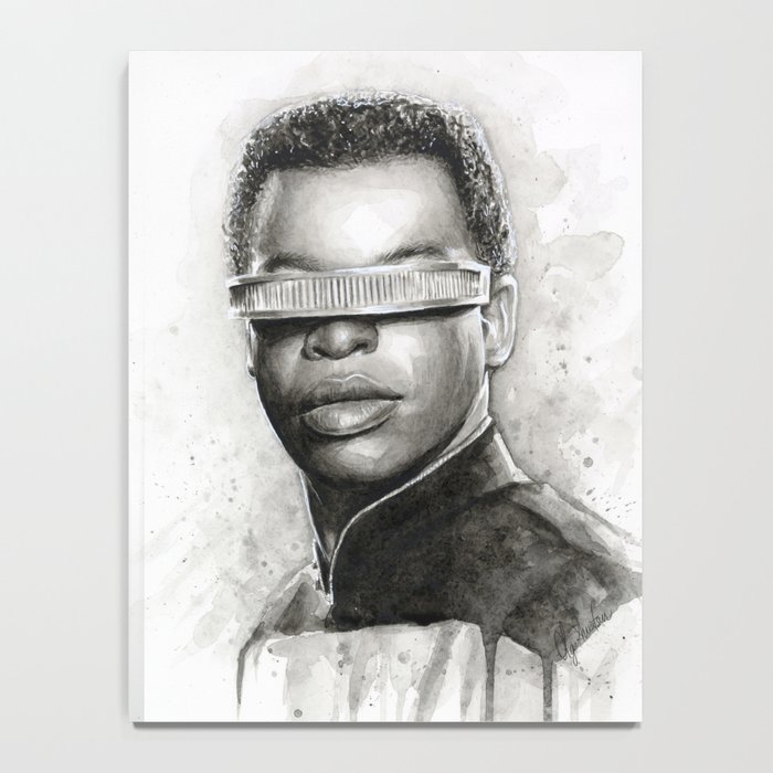 Geordi La Forge Star Trek Art Notebook