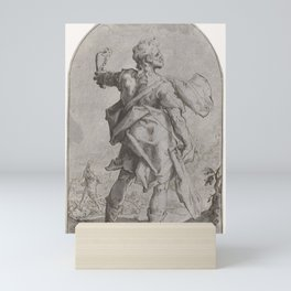 Samson with the donkey jaw, Hendrick Goltzius, 1586 - 1590 Mini Art Print