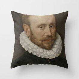 Adriaen Thomasz. Key - Portrait of a Man Throw Pillow
