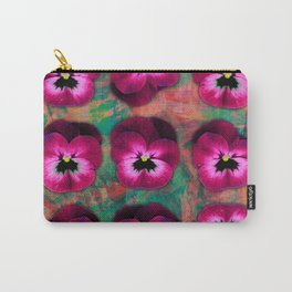 9 cerise on orange & emerald green Carry-All Pouch