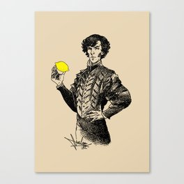 Sherlock - Not Sure if the Lemon is in Play?! Canvas Print