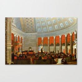 Samuel Morse The House of Representatives Canvas Print