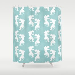 White Panther Shower Curtain