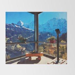Swiss Alps Looking Glass Throw Blanket