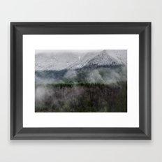 Calm of the Mountian Framed Art Print