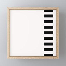 film strip (black on white) Framed Mini Art Print