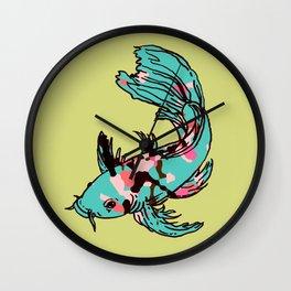 AriZona Butterfly Koi Wall Clock