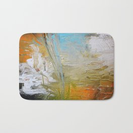 Abstract Red Blue Art  Bath Mat