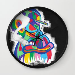 Color Monkey Fam Number B Wall Clock