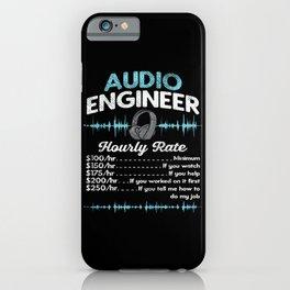 Audio Engineer Hourly Rate Motif iPhone Case