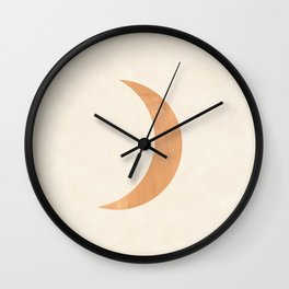 Modern crescent moon   Wall Clock