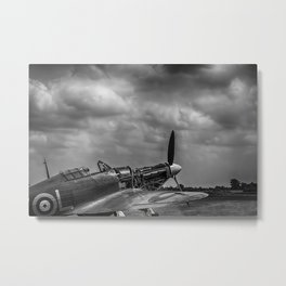 Covers Off 2 Black and White Metal Print