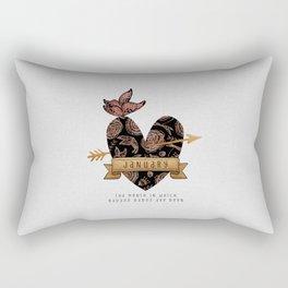 Birthday Gift January Rectangular Pillow
