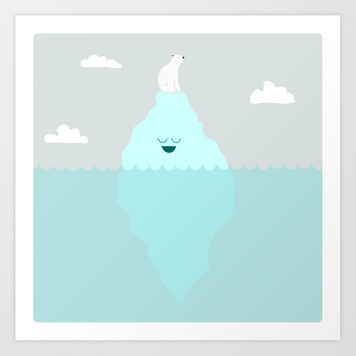 Floating Along Art Print