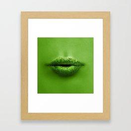 Mint Lips Framed Art Print