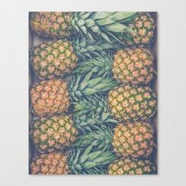 Fresh Market Pineapples Canvas Print