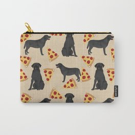 Black Lab pizza cute funny dog breed pet pattern labrador retriever Carry-All Pouch