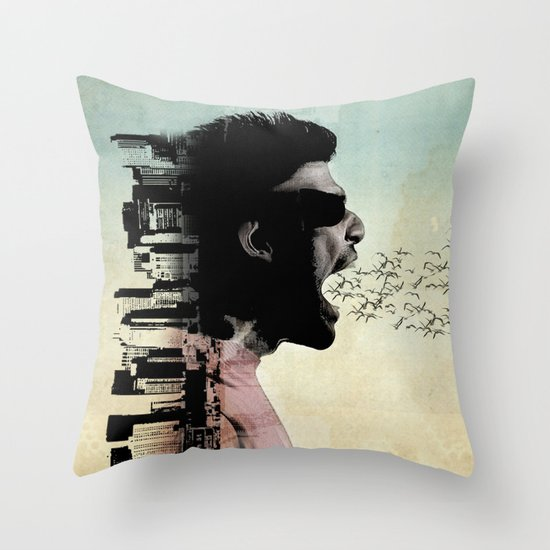 cry city Throw Pillow