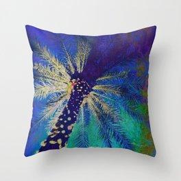 FESTIVE PALM Throw Pillow