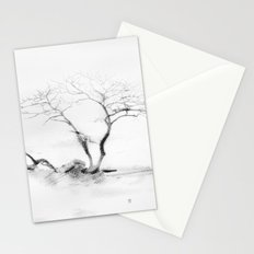 Scots Pine, Gray Stationery Cards