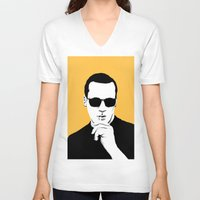 mad men V-neck T-shirts featuring Mad Men by Jeroen van de Ruit