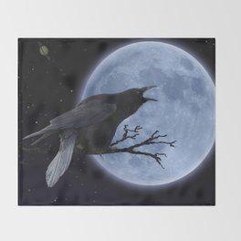 Raven Speak Throw Blanket