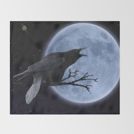 Raven Speak Throw Blanket