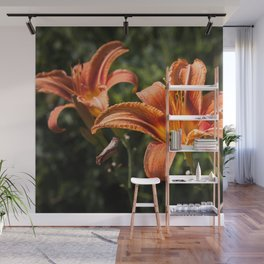 Orange Yellow Fire Lily Wall Mural