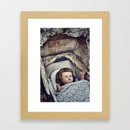 Haunted she is Framed Art Print
